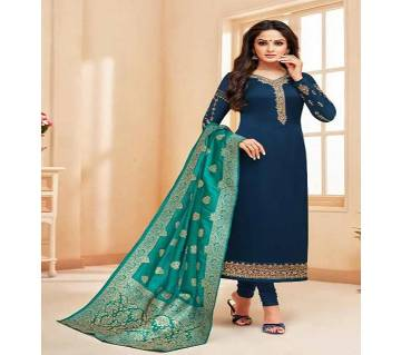 Meera Trendz Zisa Vol 54 Hit List  Salwar kameez- 10281 - Navy Blue Unstitched Three Piece - Copy (Code-SU786)