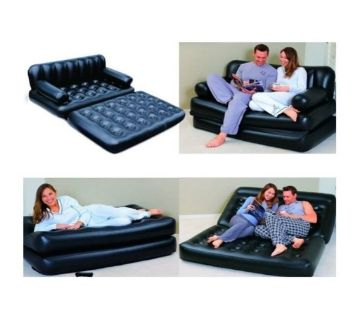 Bestway 5 in 1 Inflatable Sofa Air Bed Couch - Black