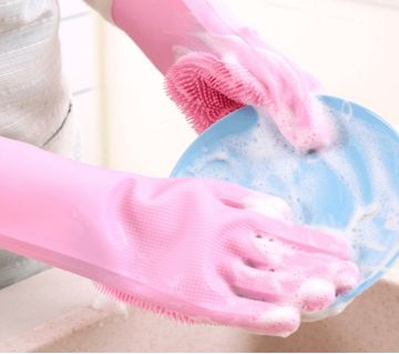 Silicone Dish Washing Gloves(Code-HS719)