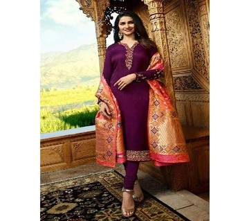Vinay Fashion Banaras Vol-2 Hit List ( Maroon & Banaras Flower Dopatta) (Code-HS807) Unstitched Three Piece - Copy