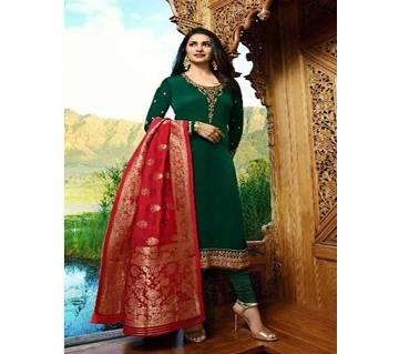 Vinay Fashion Banaras Vol-2 Hit List ( Dark Green & Banaras Flower Dopatta) (Code-HS808) Unstitched Three Piece - Copy