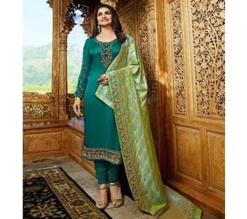 Vinay Fashion Banaras Vol-2 Hit List ( Pine Green & Banaras Flower Dopatta) (Code-HS809) Unstitched Three Piece - Copy