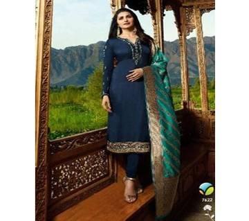 Vinay Fashion Banaras Vol-2 Hit List ( Dark Blue & Banaras Flower Dopatta) (Code-HS810) Unstitched Three Piece - Copy