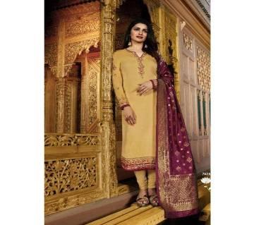 Vinay Fashion Banaras Vol-2 Hit List ( Golden & Banaras Flower Dopatta) (Code-HS811) Unstitched Three Piece - Copy