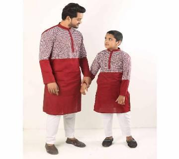 Combo Punjabi - 191154 - Red & Silver Combined Design Color(Code-SU887)