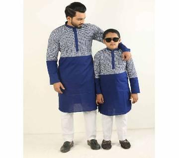 Combo Punjabi - 191153 - Blue & Silver Combined Design Color(Code-SU888)
