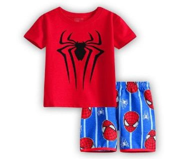 Baby Boy Spiderman Dress -Red