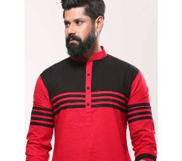 Mens Punjabi - Red Black Stripe - MPL 57(905)