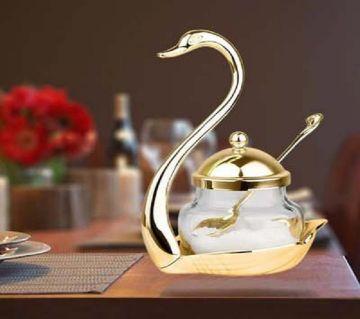 Swan Sugar Bowl and spoon