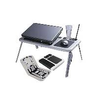 E-Laptop Table with Cooling System - White