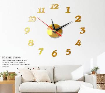 Wall Clocks 3D DIY Acrylic Mirror Stickers