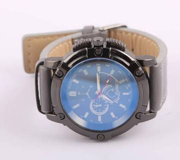 HRATREE gents leather wrist watch