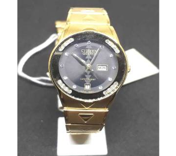 CITIZEN ladies golden wrist watch replica