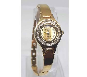 SONA ladies golden wrist watch