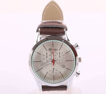 HQ gents leather wrist watch copy