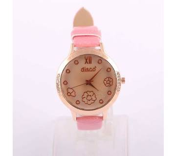 DISCO leather belt ladies wrist watch copy
