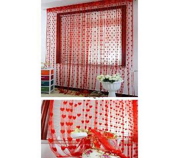 Heart Designed net Curtain- 2pcs