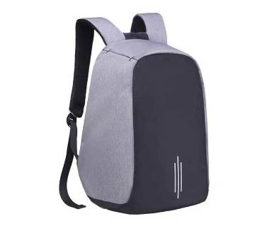 Anti Theft Backpack - Black and Ash