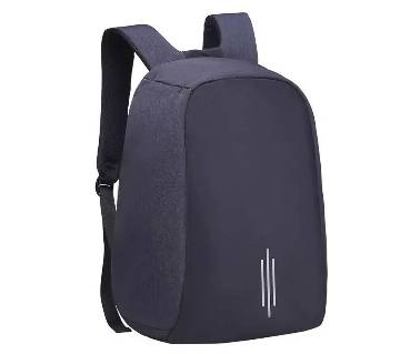 Waterproof Anti Theft Backpack With Pass Lock - Black
