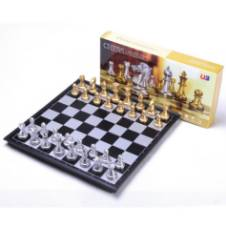 U3 Magnetic Gold and Silver Folding Chess Game Board