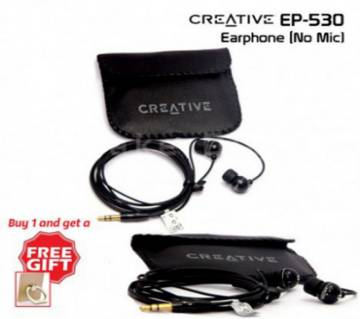 Creative High Bass Earphone with Pouch