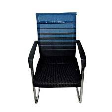 Samiha Furniture SF-086 - Fixed Chair - Black and Blue