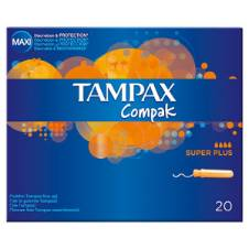 Tampax Compak Super Plus 20 Pack Tampoon - Hungary