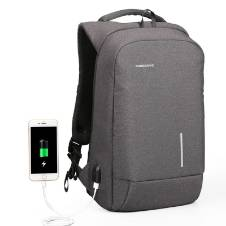 Kingsons USB Charge Anti Theft Backpack - Gray