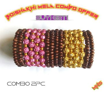 Boishakhi Combo Wooden Bracelet Offer