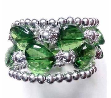 love shaped bracelet green