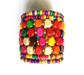 Multicolor Wooden Bracelet