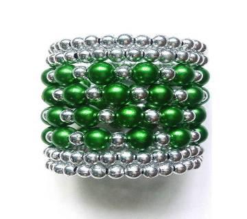 green silver plated ladies bracelet