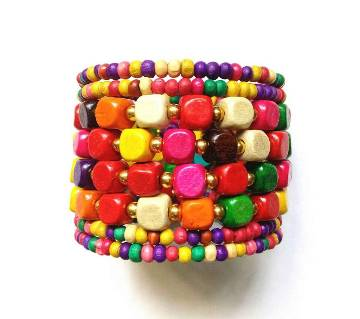 Multicolor Wooden ladies Bracelet