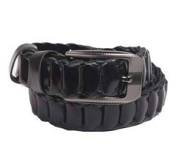 Black Leather belt For Man