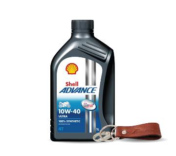 Shell Advance Ultra 10W-40 1L (Key Ring Free)