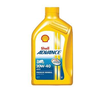 Shell Advance 4T AX5 20W-40 1L (Key Ring Free)