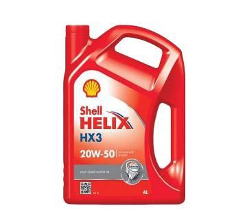 Shell Helix HX3 20W-50 - 4L (কী-রিং ফ্রি)