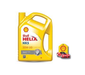 Shell Helix HX5 20W-50 - 4L (কার ফ্রেশনার ফ্রি)