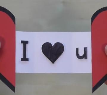Love Shape greeting card