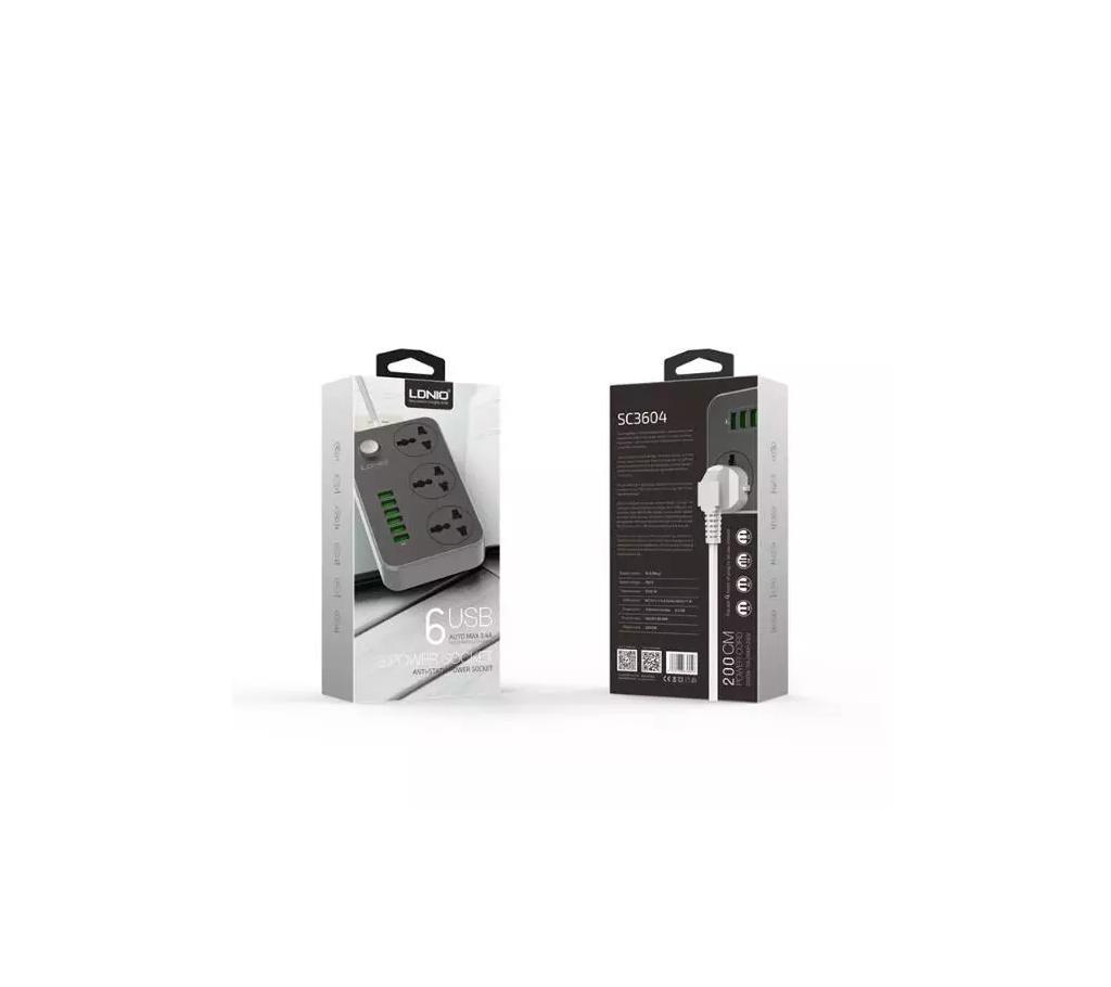 LDNIO 6 USB মাল্টিপারপাস মাল্টি প্লাগ বাংলাদেশ - 764538