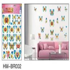 বাটারফ্লাই wall decor 3d স্টিকার HM - BR002