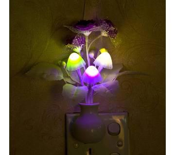 রোমান্টিক কালারফুল সেন্সর LED মাশরুম নাইট লাইট ওয়াল ল্যাম্প