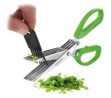 Easy clean herb scissor