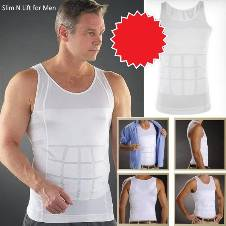 SLIM N LIFT FOR MEN WHITE Body Shaper
