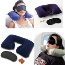Travel Set neck Cushion Eye Mask Ear Plug 3 In 1 Combo Offer