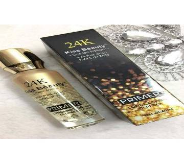 KISS BEAUTY PRIMER WITH PURE GOLD 24K GOLDEN EDITION CONCEALED MAKEUP BASE 40 ml, Thailand