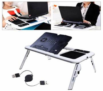 Laptop Table Stand with Cooling Fan  (Black and White)
