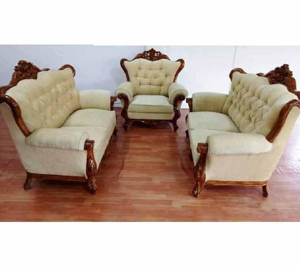 Teak Wooden Sofa Set 5 Seater 764844 Furniture Home Decor Buy From Ajkerdeal