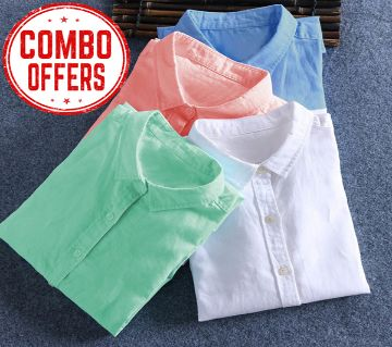 shirt for men 4 pcs combo offer