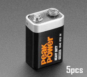 PeakPower 9V Battery 5pcs